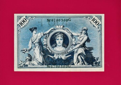 Pick-34 100 Mark 1908 Germany AUnc Reichsbanknote SCARCE in High Grade