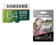 Micro SD Memory Card 64 GB Samsung EVO Select 100MB/s SDXC Smartphone Camera New