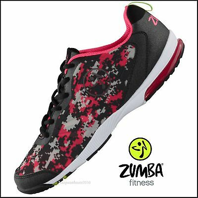 ZUMBA Impact Pulse Shoes Trainer Digi-Camo Strong DANCE any surface! 6.5,7,7.5,9