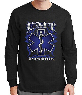 EMT Adult/'s T-shirt EMT Logo Saving One Life At A Time Tee for Men 1239P