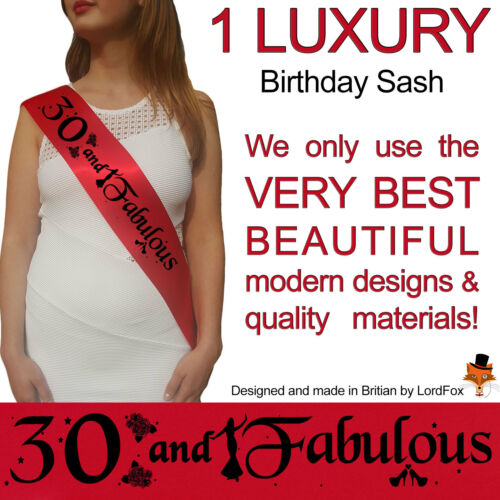 30TH BIRTHDAY GIRL PARTY SASH NIGHT OUT ACCESSORY GIRLS SASHES THIRTY FUN New s