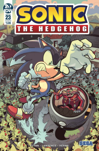 SONIC THE HEDGEHOG #23 YARDLEY VARIANT IDW COMICS VIDEO GAME SEGA TAILS