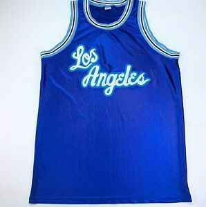 Details about Vintage 80s 90s Los Angeles LA Lakers Jersey Medium Blue Blank Made in USA