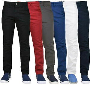Enzo-Mens-Chino-Jeans-Stretch-Skinny-Slim-Fit-Casual-Pants-Trousers-All-Waists