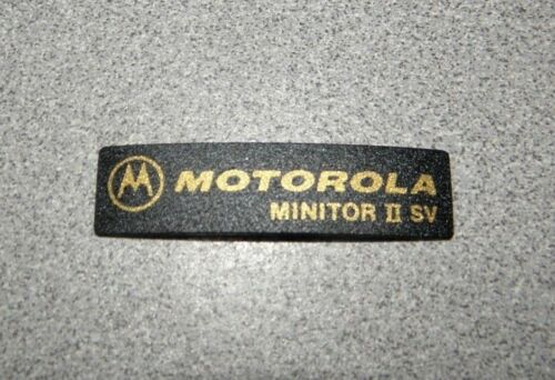 Stored Voice Label Logo Sticker Name Plate Motorola Minitor II SV