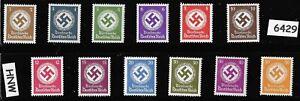 MNH-WWII-Officials-stamp-set-1934-amp-1942-Third-Reich-era-WWII-Germany