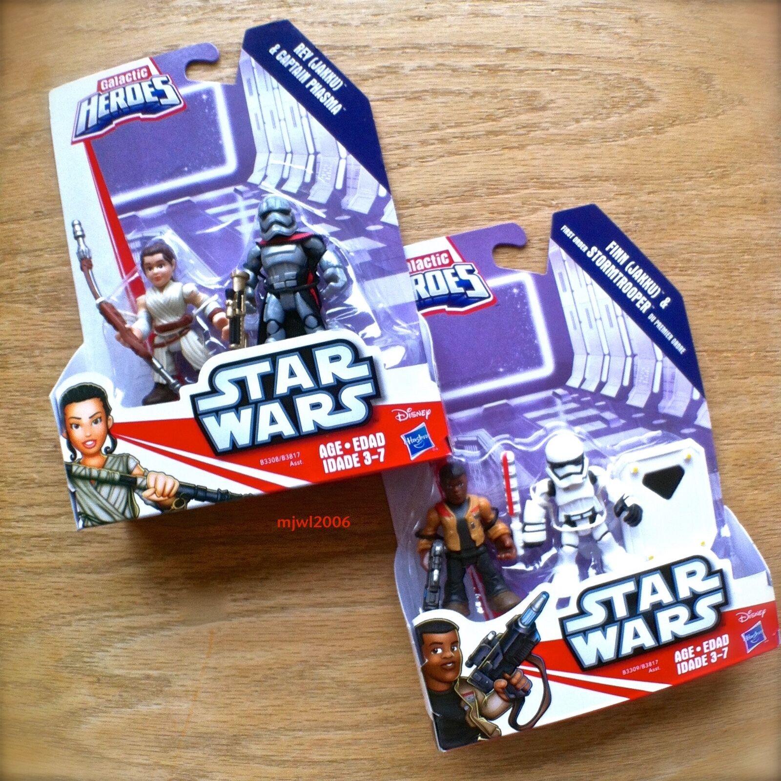 Star Wars Galactic Heroes CAPTAIN PHASMA REY FINN FIRST ORDER STORMTROOPER Bundl
