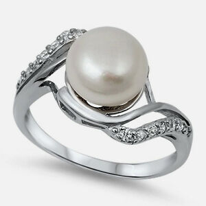 USA-Seller-Genuine-Freshwater-Pearl-Ring-Sterling-Silver-925-Best-Jewelry-Size-7
