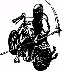 Image is loading Motorcycle-Grim-Reaper-Bike-Biker-Car-Truck-Window-