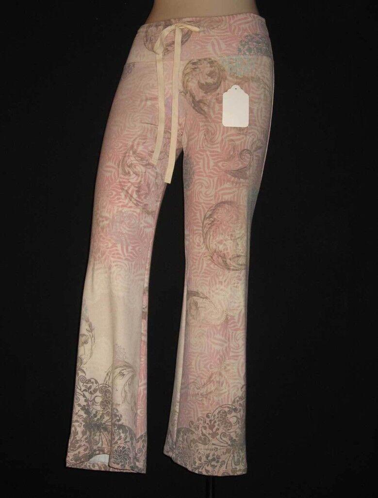 Claire Pettibone Yoga Pant Lounge Wear ORNAMENTAL Pink OM Soft S NWT 28 INSEAM