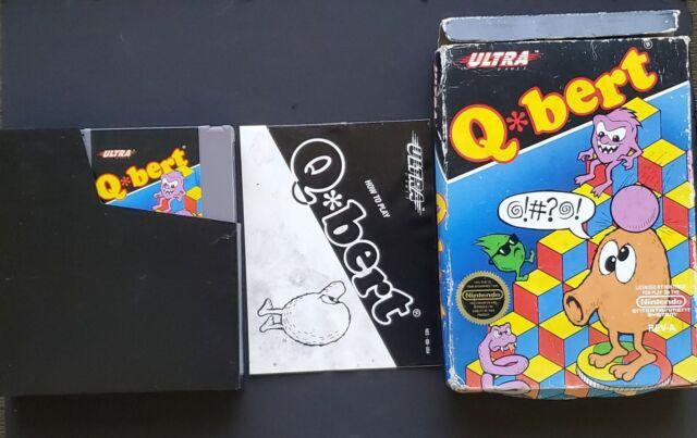 Qbert Nintendo NES With Original Manual Case Game Sleeve
