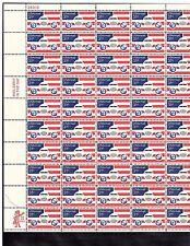 US AIRMAIL #C90, 31C STAMP  PLANE  GLOBES  & FLAGS SHEET OF 50 MNH OG  BCV $47