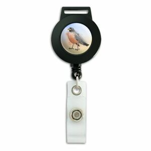 Robin-Watercolor-Northeastern-Bird-Lanyard-Retractable-Reel-Badge-ID-Card-Holder