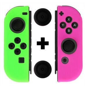 Fosmon-Nintendo-Switch-Joy-Con-Anti-Slip-Silicon-Guard-Skin-Case-Thumb-Grip-Caps