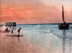 Nederland-Scheveningen-Damesbaden-vintage-print-photochromie-vintage-photo