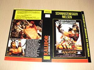JAQUETTE-VHS-Kalidor-la-legende-du-talisman-Red-Sonja-Arnold-Schwarzenegger