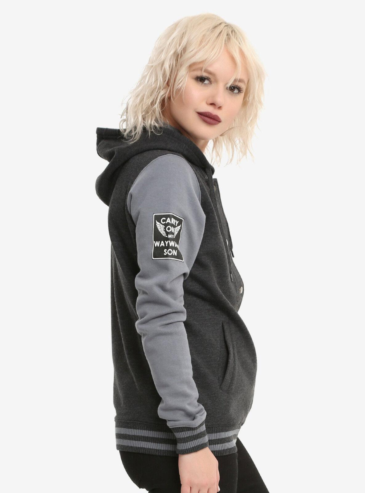 CW Supernatural Varsity Hoodie Winchester Bros. Anti-Possession Symbols Symbols Symbols JRS S-XL e5c9f0