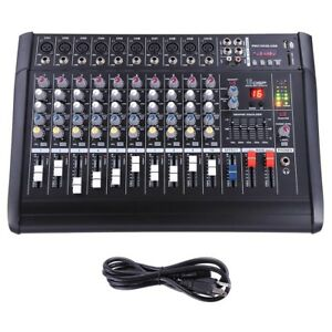 10-Channel-Professional-Powered-Mixer-Power-Mixing-Amplifier-Amp-16DSP