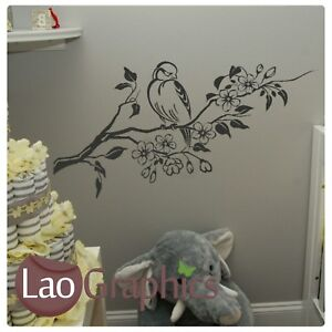 Tree-amp-Bird-Wall-Art-Sticker-Large-Vinyl-Transfer-Graphic-Decal-Home-Decor-x33