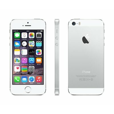 Apple iPhone 5S 16GB Unlocked GSM T-Mobile AT&T 4G LTE Smartphone - Silver