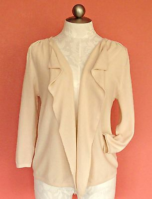 GAP Beautiful 100% Cotton Pique Open Cardigan Size S 4 6 8 Sweater Drape Pink