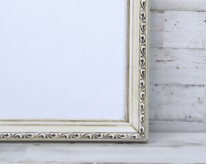 Antique-white-16x20-shabby-farmhouse-chic-ornate-wood-wall-gallery-picture-frame