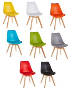 Image Is Loading Dining Chair Tulip Chairs By Millhouse Retro Solid