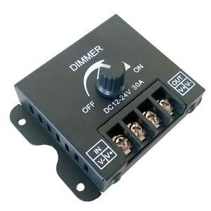 dc 12v 24v 30a 360w 2ch led switch dimmer controller for. Black Bedroom Furniture Sets. Home Design Ideas