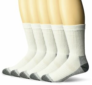 Fruit-of-the-Loom-Mens-Big-and-Tall-5-Pair-Work-Gear-Crew-Socks-Shoe-SZ