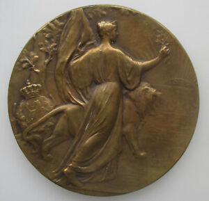 Belgie-Medaille-1830-1905-75-jaar-onafhankelijkheid-Leopold-II-Devreese-70mm