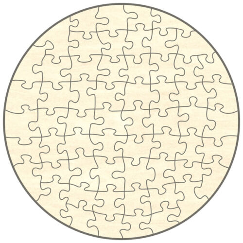 Blanko Holz-Puzzle Kreis zum Selbst Bemalen und Gestalten 60 Teile 39x39 cm