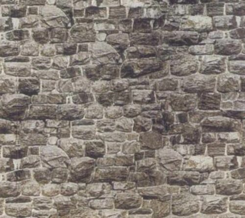 8 SHEETS SELF ADHESIVE PAPER stone wall 21x29cm SCALE 16 CODE 1A97AD