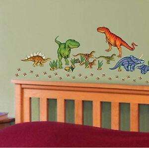 DINOSAURS Wall Stickers Decals JURASSIC WORLD Eggs Dino Foot - Jurassic world wall decals