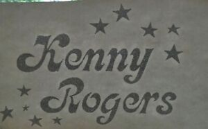 Details about Original Vintage 70s Kenny Rogers Country Music Metallic  Tshirt Heat Transfer