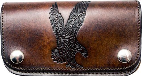 Biker Wallet Adler punzonatura PORTAFOGLIO M catena Best Buffalo Leather Made in USA