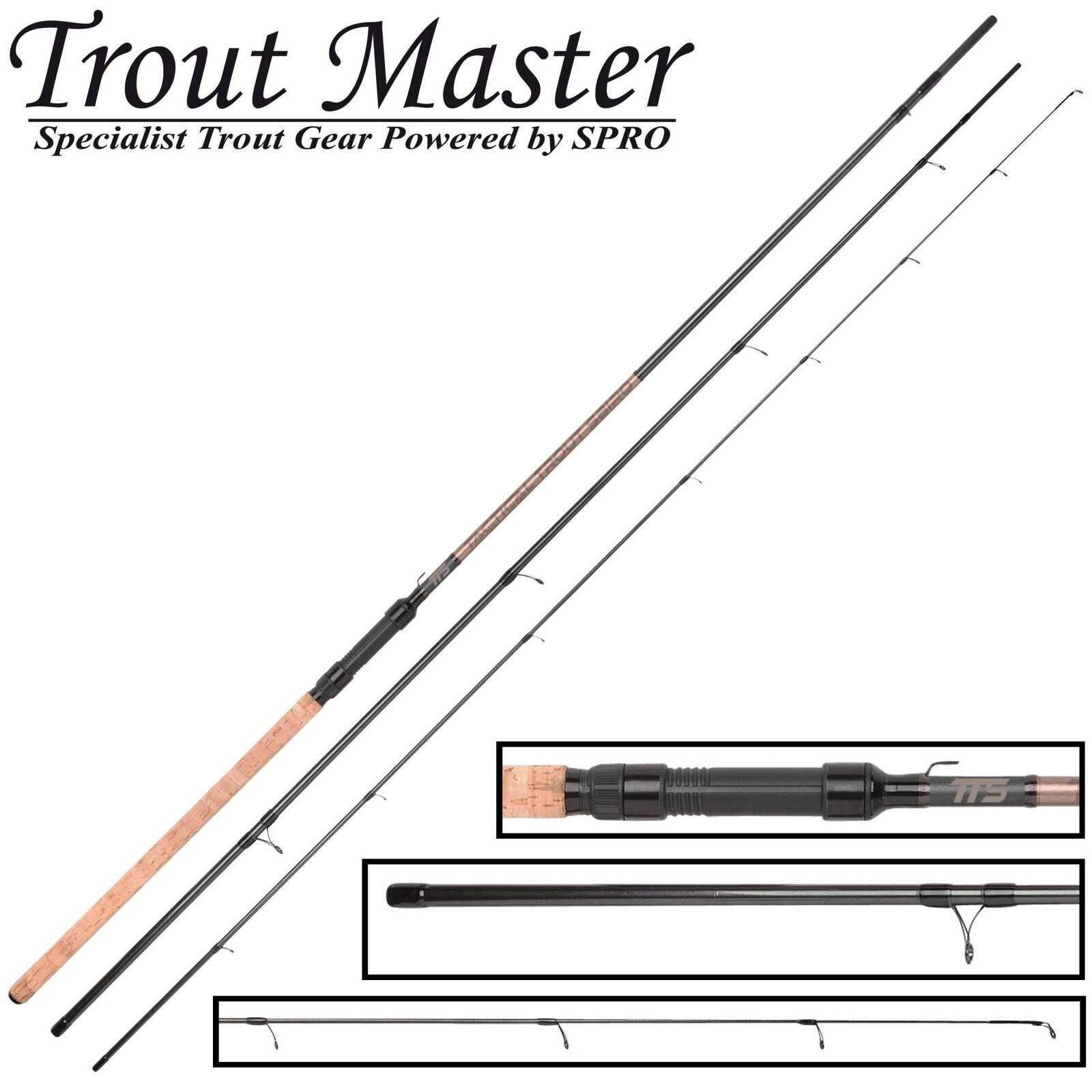 Trout Master Tactical Sbiro 3,90m 3-25g - Forellenrute, Sbirolinorute, Angelrute