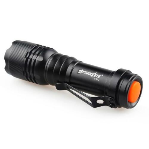 Waterproof XML T6 LED Mini Flashlight Zoomable 18650 Torch lamp Battery+charger