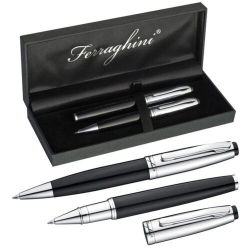 Ferraghini Schreibset aus Metall mit Kugelschreiber /& Rollerball