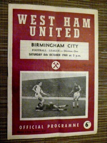 1960/61 Football League WEST HAM UNITED v BIRMINGHAM CITY - 8th October