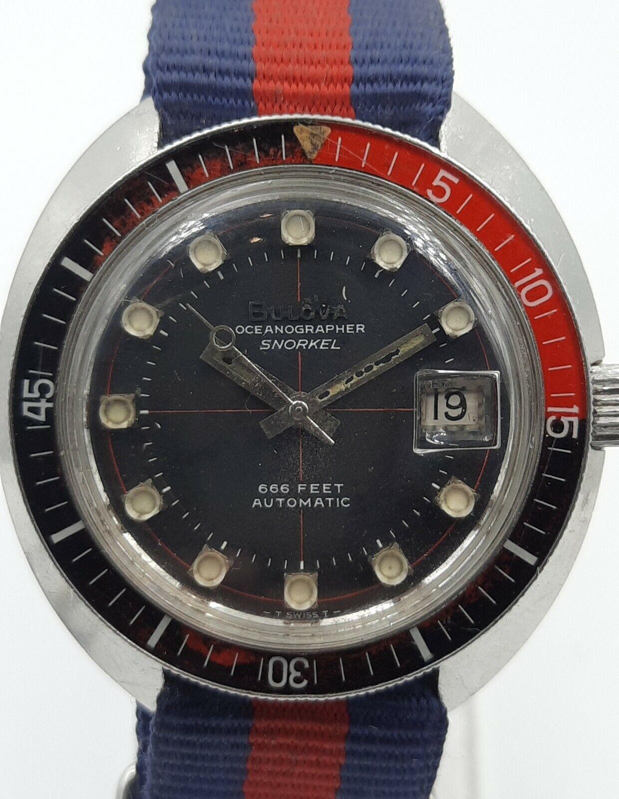 Image 1 -  Original vintage 1969 Bulova Oceanographer Snorkel 666 Devil Diver M9.
