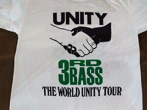 90's Deadstock 3rd Bass MC Serch  UNITY WORLD TOUR T Shirts - Vintage