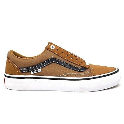 Vans Old Skool Pro Glazed Ginger Black White Men's 7.5 Skate Shoes New Orange | eBay