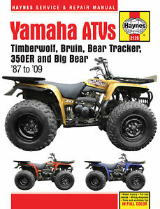 Haynes Repair Manual Yamaha Yfb Yfm Atv Timberwolf Bear Tracker Bruin Big Bear Ebay