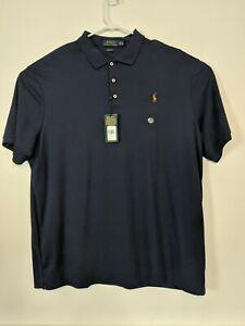 Polo-Ralph-Lauren-Men-XXL-Shirt-Classic-Fit-Blue-Short-Sleeve-Pony-Logo