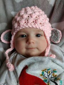 Image is loading lamb-hat-Easter-sheep-hat-cute-handmade-crochet- 8e1e5504d87