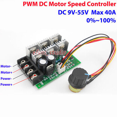 High Quality PWM DC motor governor DC12-40V10A Durable Motor Speed Controller UK