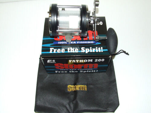 STORM FATHOM 200 MULTIPLIER REEL BAG SEA FISHING WRECK BOAT COD BASS LURE LINE