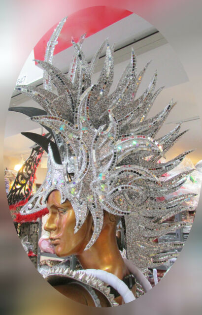 Da NeeNa H100 Vegas Burlesque Alien Iron Punk Native Indian Headdress