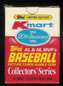 Details About 1982 Topps Kmart Al Nl Mvps Baseball Complete Set 1 44