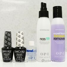 OPI Gelcolor GEL Nail Kit 5pc Base Top Bond Aid Cleanser NAS 99 Remover